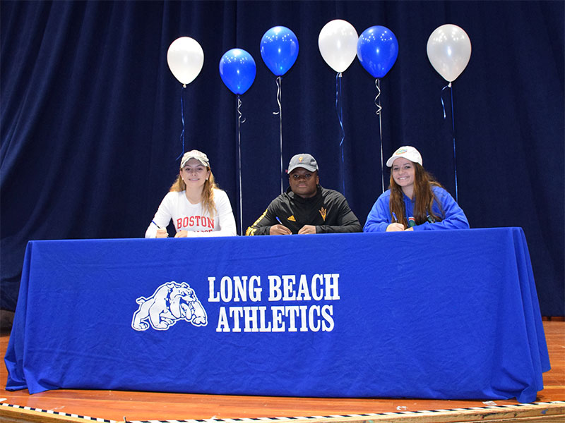 LBHS Athletes Sign National Letters of Intent