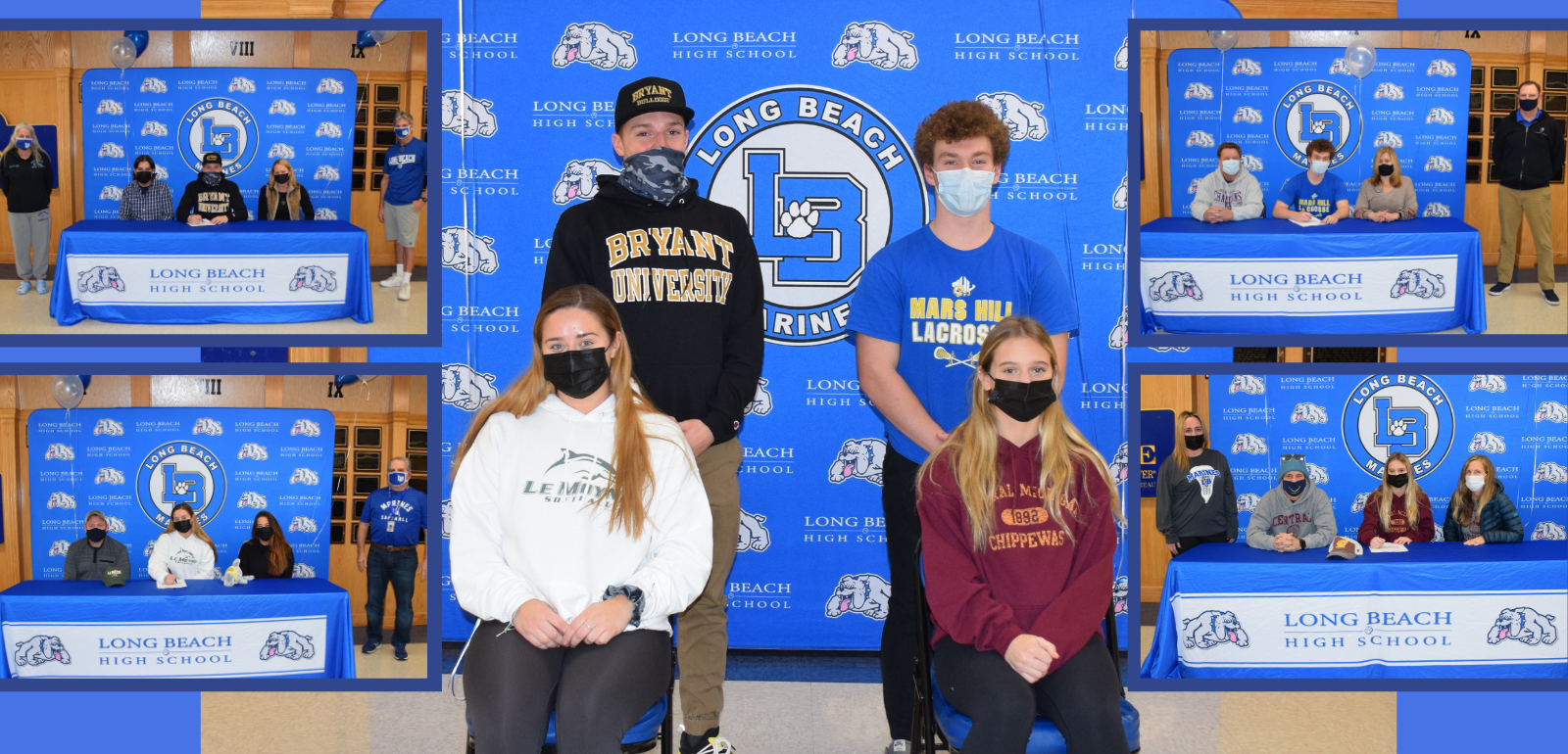 LBHS Athletes Commit to College Teams