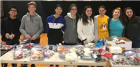 HS Freshmen Team Up and Support Service Efforts photo